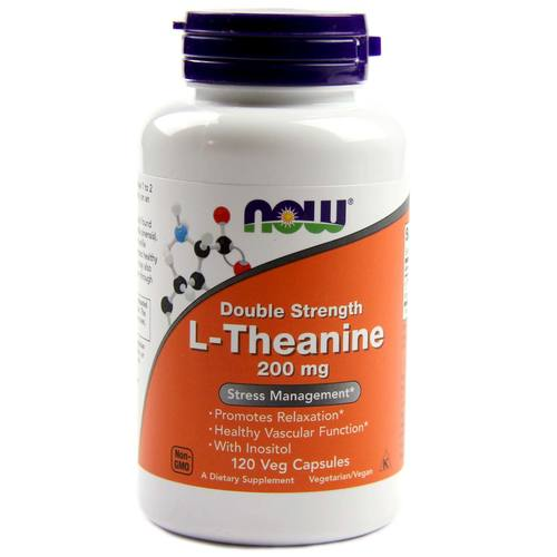 Now Foods L-Theanine – 200 mg – 120 Vegetarian Capsules