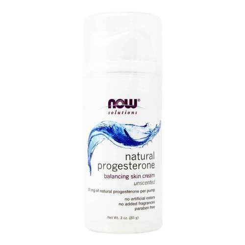 Now Foods Natural Progesterone Skin Cream Unscented – 3 oz (85 g)