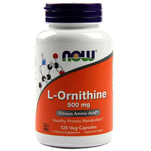 Now Foods L-Ornithine – 120 Capsules