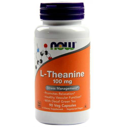 Now Foods L-Theanine – 100 mg – 90 Vegetarian Capsules