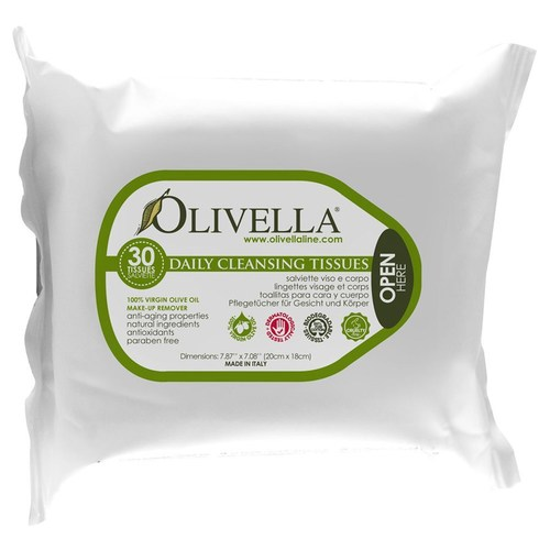 Olivella Daily Cleansing Tissues – 30 Tissues