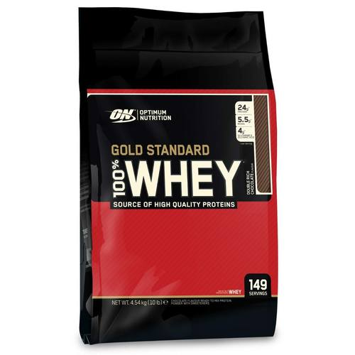 Optimum Nutrition Gold Standard 100% Whey Double Rich Chocolate – 10 lbs