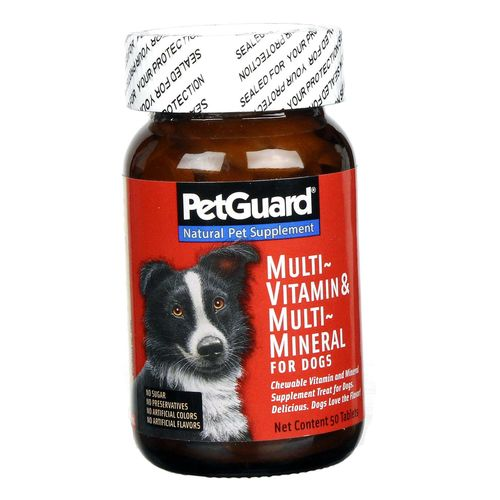 PetGuard Multi-Vitamin and Minerals for Dogs – 50 Tablets