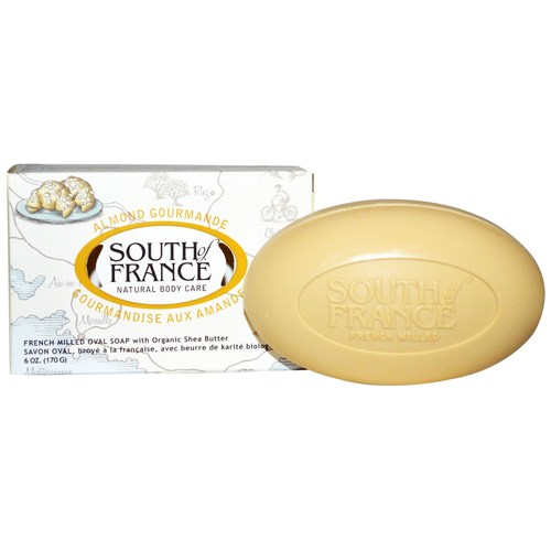 South Of France French Milled Oval Bar Soap Almond Gourmande – 6 oz
