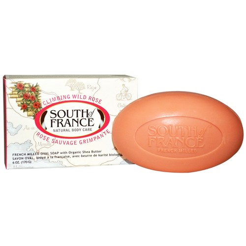 South Of France French Milled Oval Bar Soap Climbing Wild Rose – 6 oz