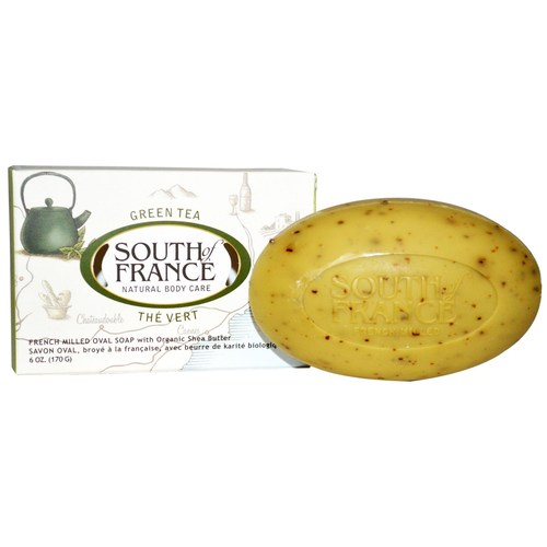 South Of France French Milled Oval Bar Soap Green Tea – 6 oz