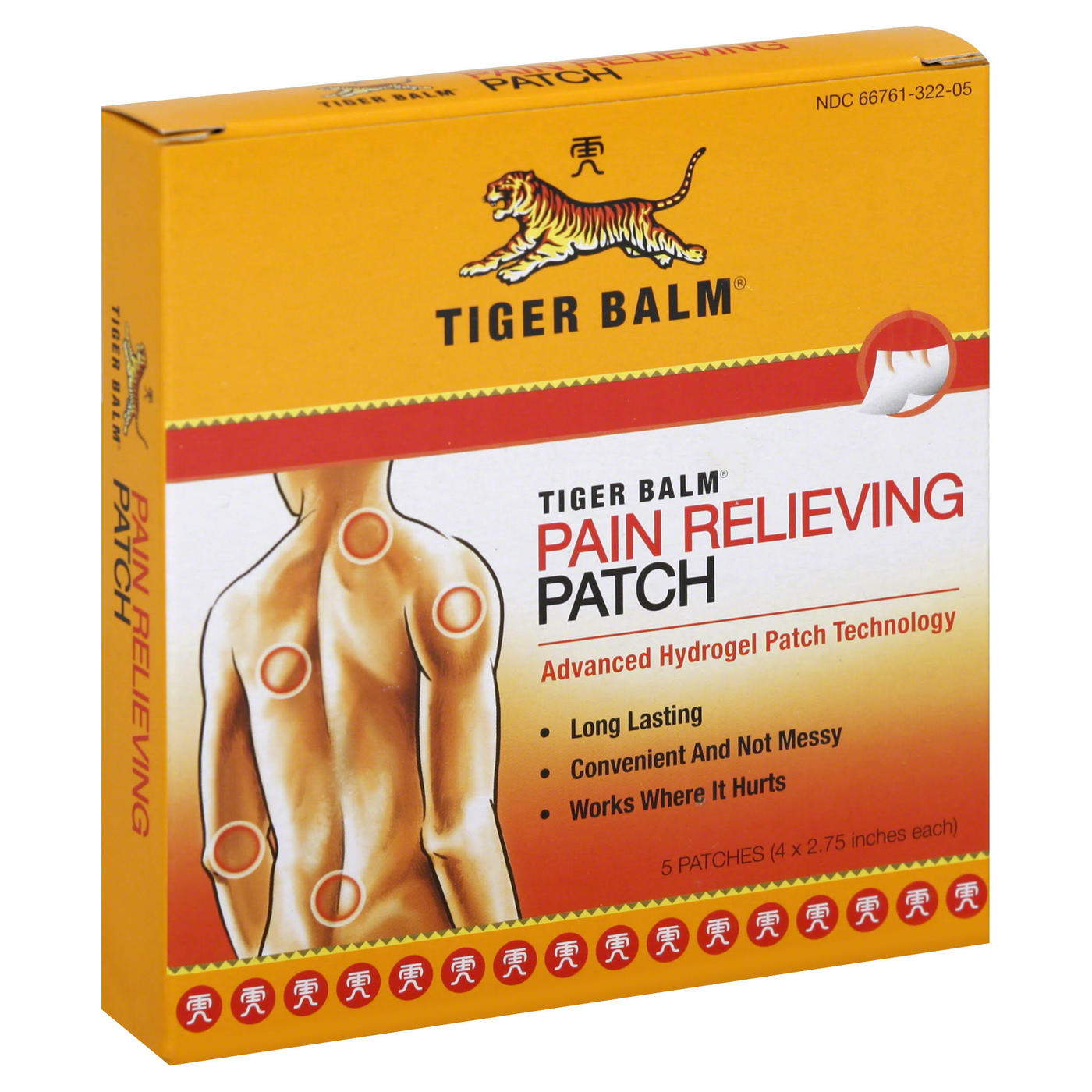 Tiger Balm Pain Relieving Patches – 5 Patches