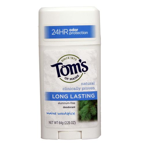 Tom's of Maine Long Lasting Natural Deodorant Stick Maine Woodspice – 2.25 oz