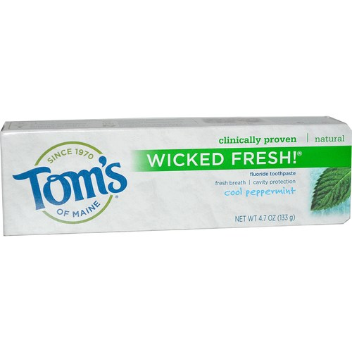 Tom's of Maine Wicked Fresh Long Lasting Toothpaste Cool Peppermint – 4.7 oz