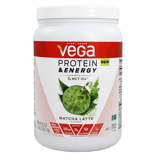 Vega Protein and Energy with 3g MCT Oil Matcha – 18.3 oz