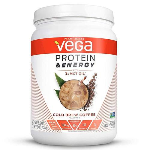 Vega Protein and Energy with 3g MCT Oil – Cold Brew Coffee – 18.6 oz