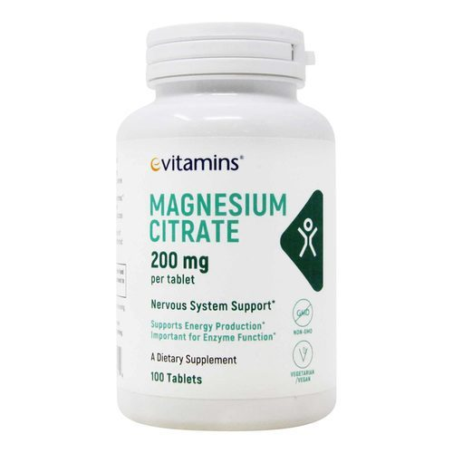 eVitamins Magnesium Citrate 200 mg – 100 Tablets
