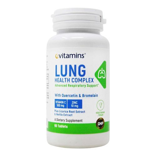 eVitamins Lung Health Complex – 60 Tablets