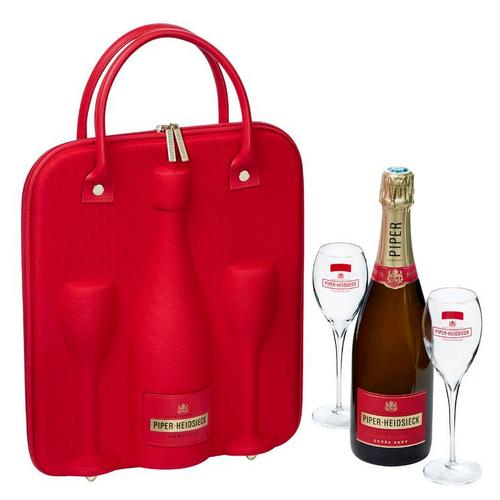 Wine Express – Piper-Heidsieck NV Brut W/ Gift Travel Case And 2 Champagne Flutes
