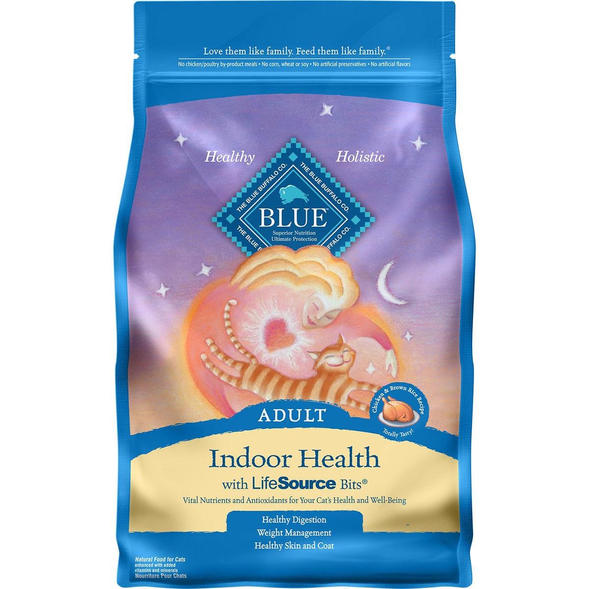 BaxterBoo – Blue Buffalo Indoor Health Chicken & Brown Rice Adult Dry Cat Food