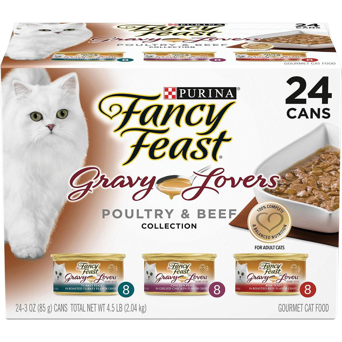BaxterBoo – Purina Fancy Feast Gravy Lovers Poultry & Beef Canned Cat Food – Variety Pack