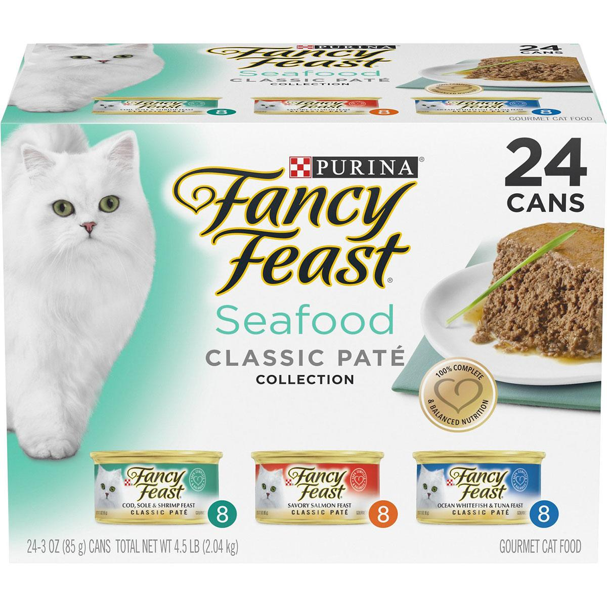 BaxterBoo – Purina Fancy Feast Seafood Classic Paté Canned Cat Food – Variety Pack