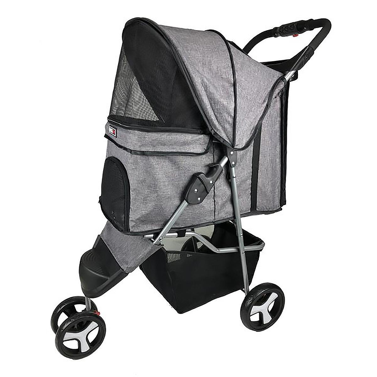 BaxterBoo – Sport Dog Stroller with Removable Cup Holder by Dogline – Gray