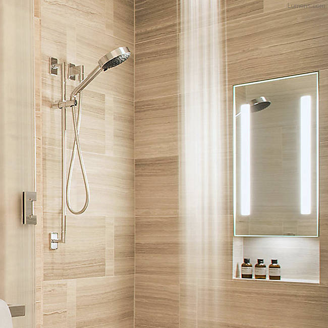 Acclaim In-Shower Fog Free Mirror with Down Light