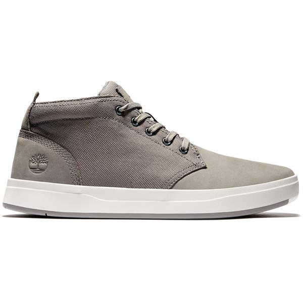 The House – Timberland Davis Square Leather & Fabric Chukka Shoes