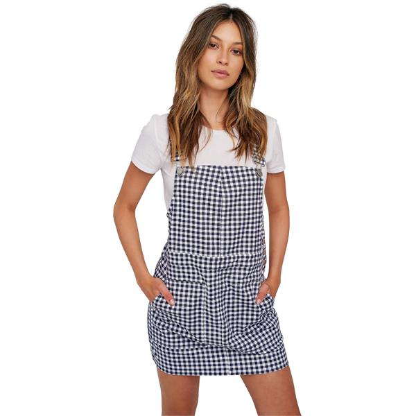 The House – Volcom Georgia May Jagger Frochickie Overall Dress – Womens