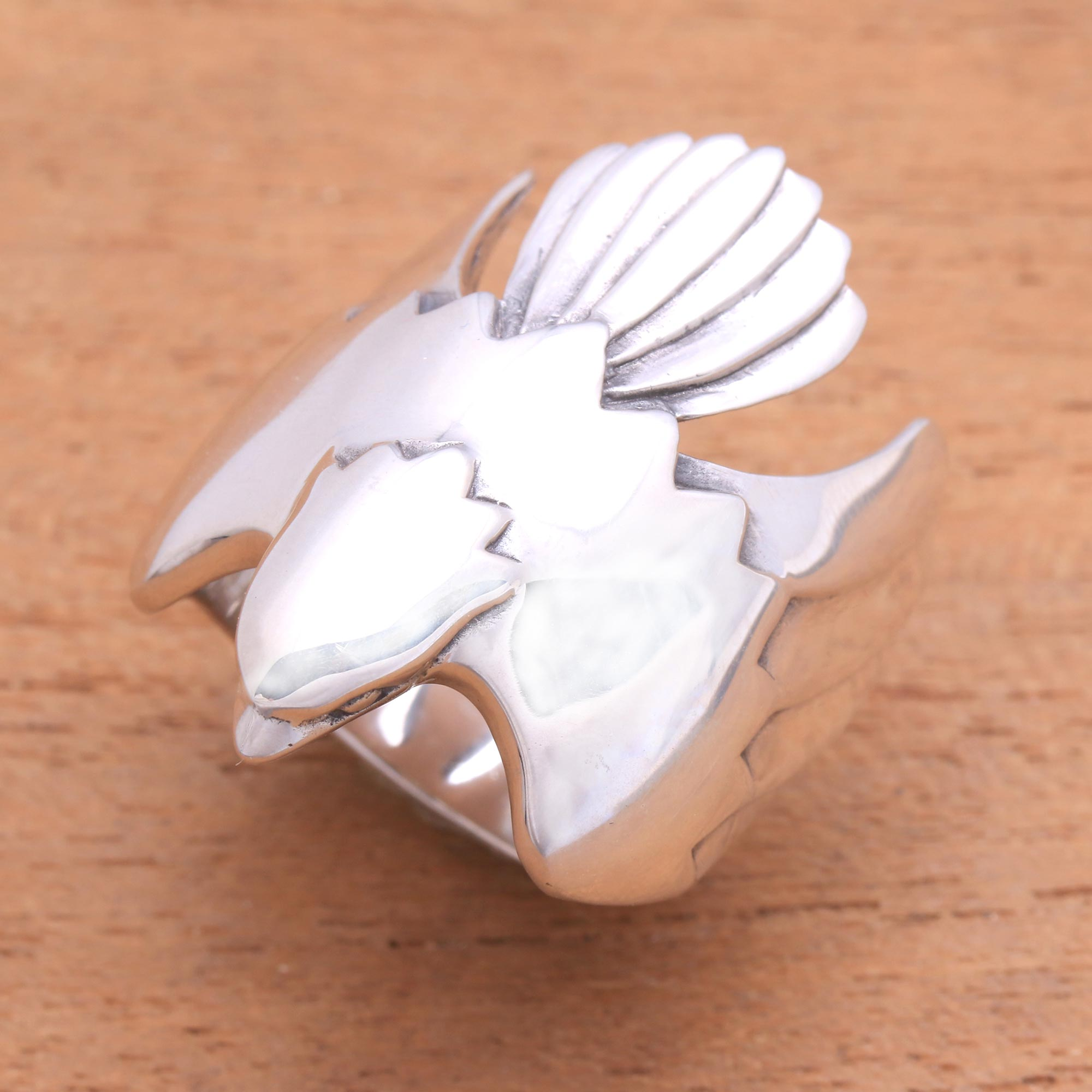 """NOVICA – Men's Sterling Silver Ring from Indonesia, """"Eagle Power"""""""