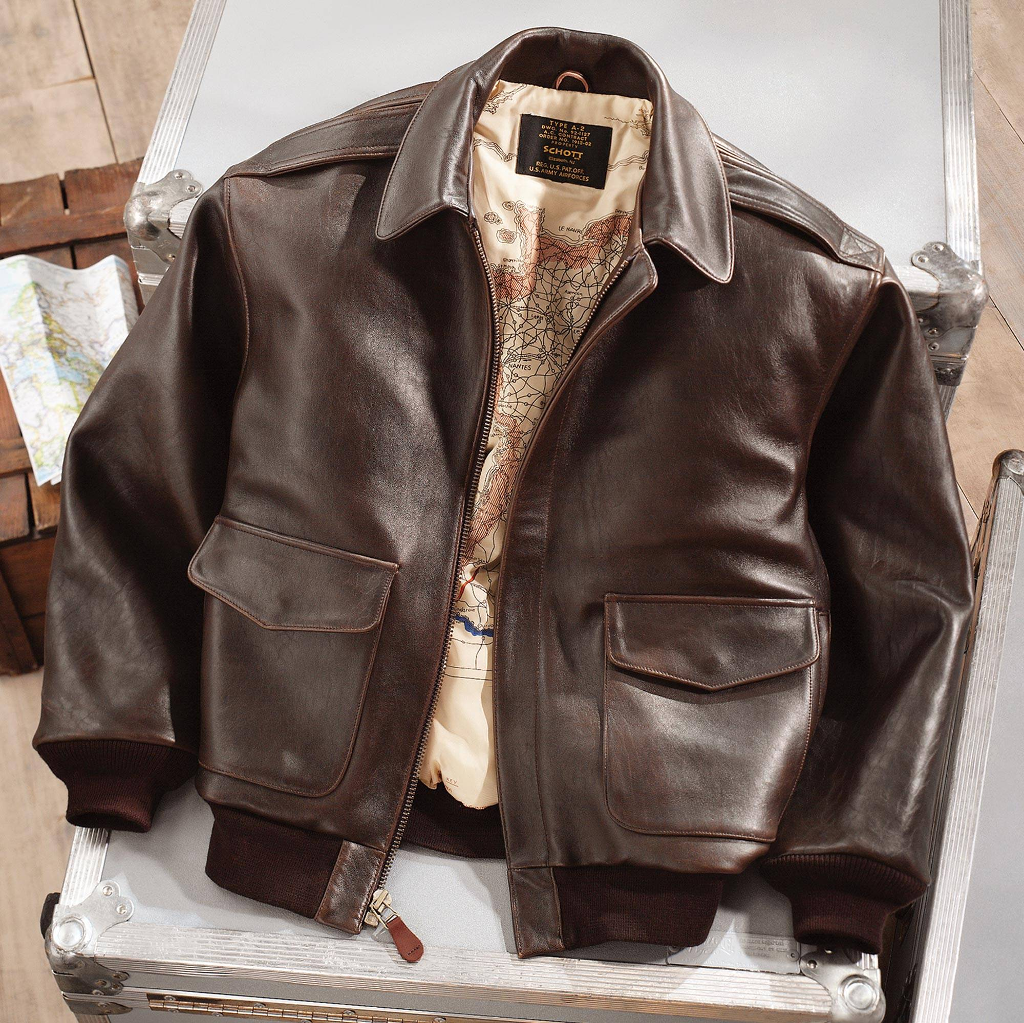 """NOVICA – Leather A-2 Flight Jacket, """"Road to Victory"""""""