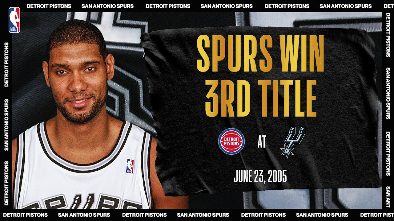 Duncan Leads Spurs To 3rd Championship In Franchise History