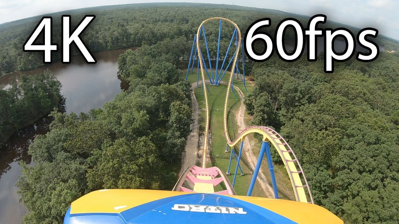 Nitro front seat on-ride 4K POV @60fps Six Flags Great Adventure
