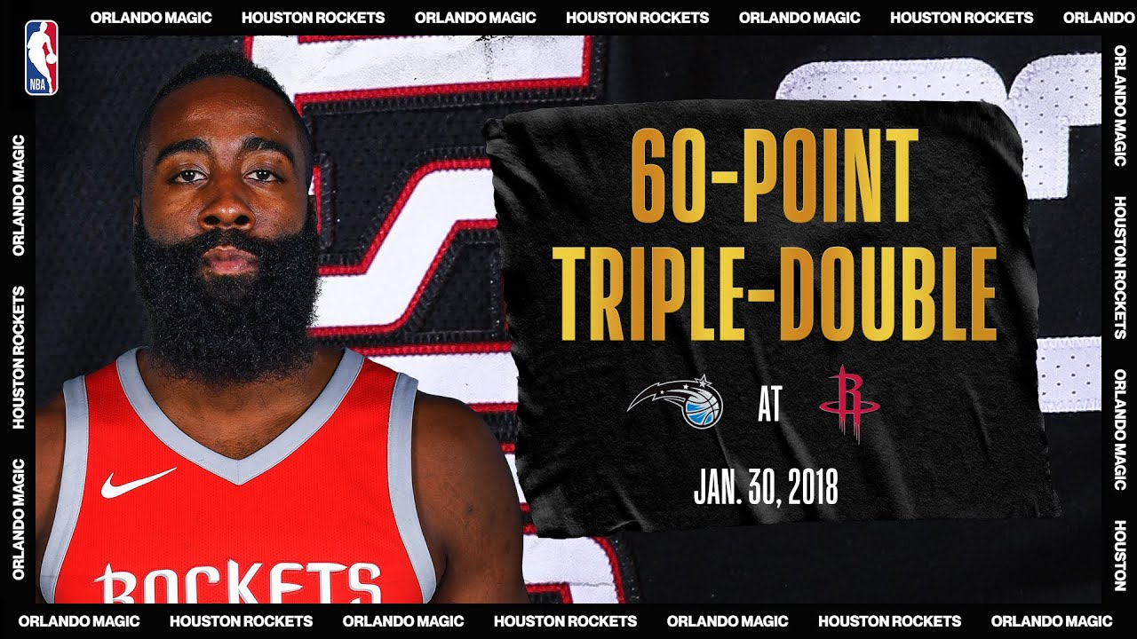 Harden Notches First Career 60-PT Triple-Double