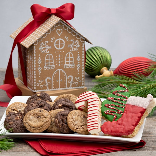 Gourmet Gift Baskets – Cookies For Santa Gingerbread House
