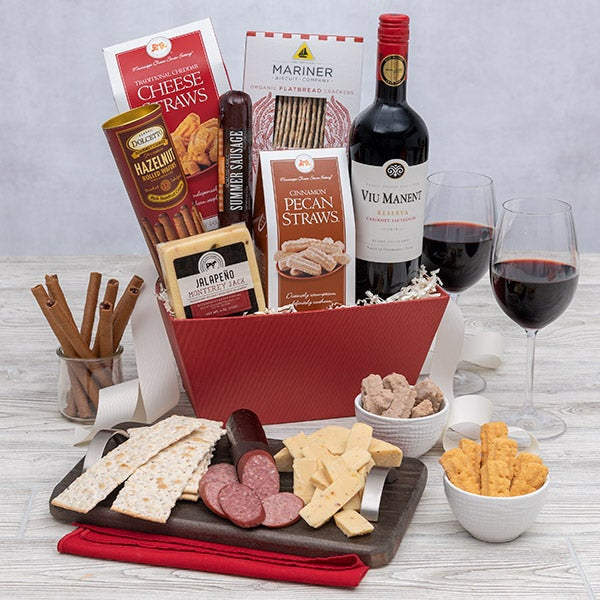 Gourmet Gift Baskets – Classic Red Wine Gift Basket