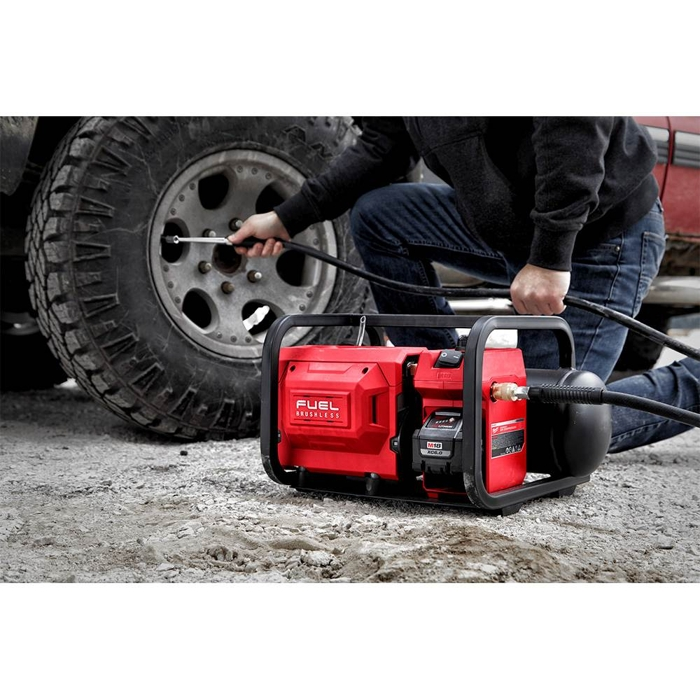 The Tool Nut – Milwaukee 2840-20 M18 FUEL 2-Gallon Cordless Compact Quiet 68db Compressor, Tool Only