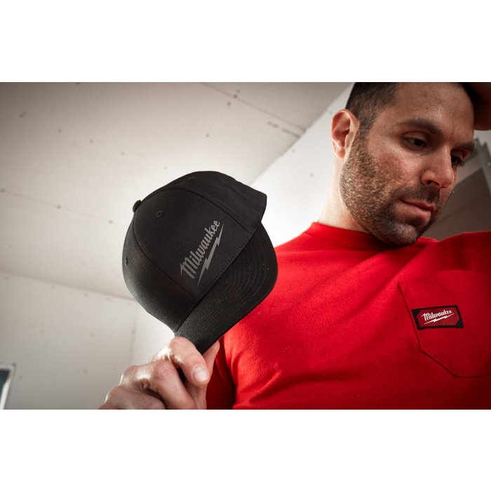 The Tool Nut – Milwaukee 504B Black Flexible Stretch-Fit Hat